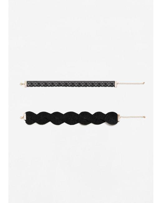 Mango | Black 2 Chokers Pack | Lyst