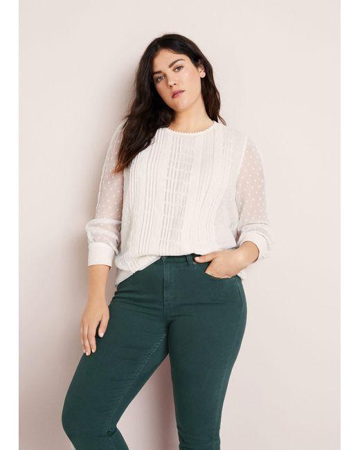 Violeta by Mango - Green Slim-fit Julia Jeans - Lyst