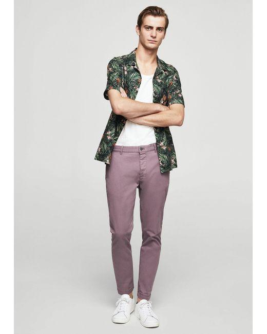 Mango | Purple 5-pocket Cotton Trousers | Lyst