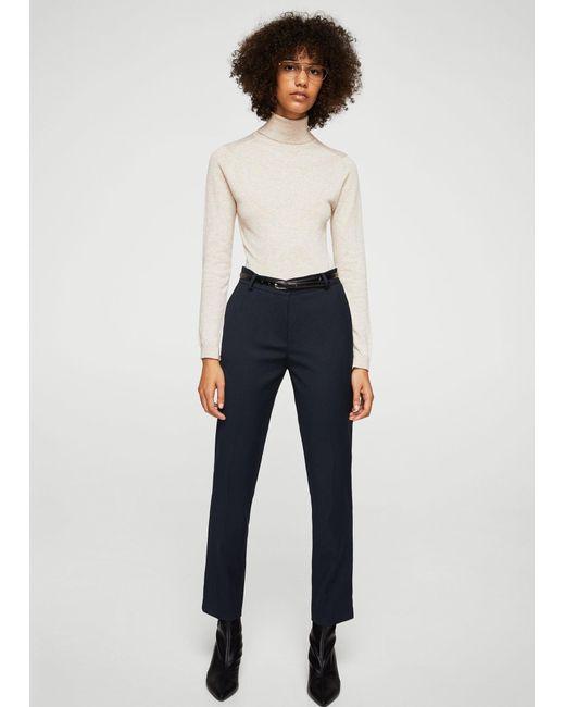 Mango | Blue Straight Suit Trousers | Lyst