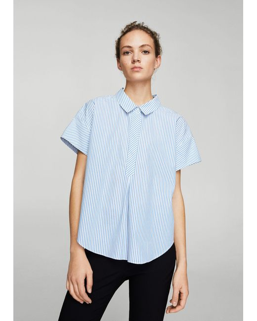 Mango - Blue Shirt - Lyst