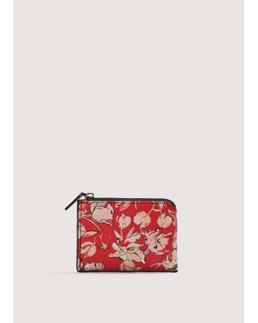 Mango - Red Print Wallet - Lyst