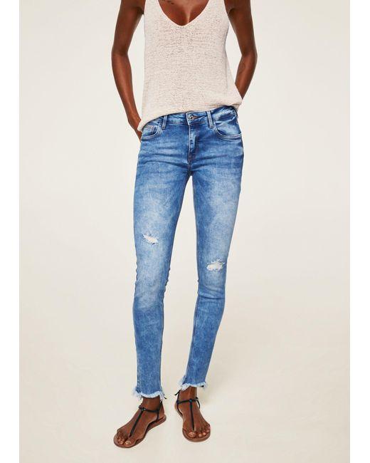 Mango - Blue Kim Skinny Push-up Jeans - Lyst
