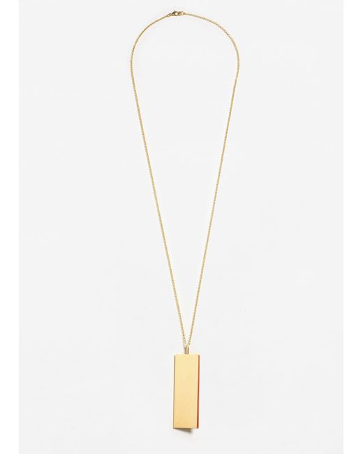 Mango | Metallic Metal Pendant Necklace | Lyst