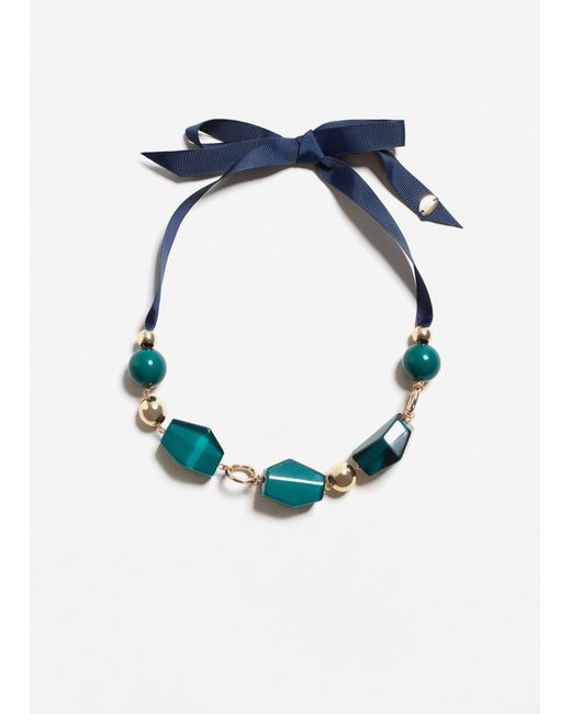 Mango | Green Mixed Piece Necklace | Lyst