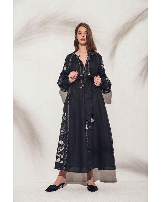 MARCH11 - Kilim Maxi Dress In Black With Gray - Lyst