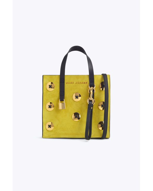Marc Jacobs - Yellow Suede Mini Grind Tote Bag - Lyst