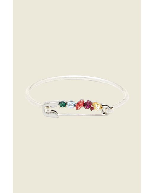 Marc Jacobs | Multicolor Rainbow Safety Pin Hinge Bracelet | Lyst