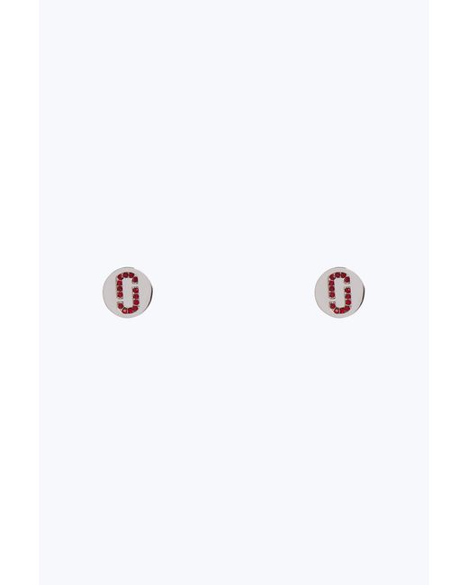 Marc Jacobs - Metallic Double J Pave Stud Earrings - Lyst