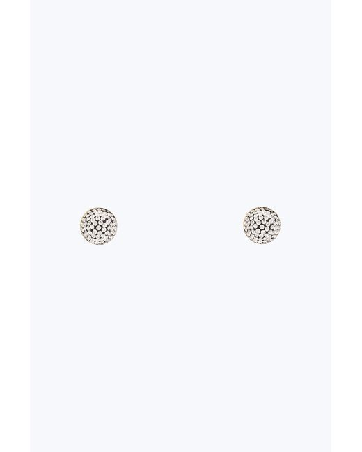 Marc Jacobs - Metallic Pave Circle Studs - Lyst