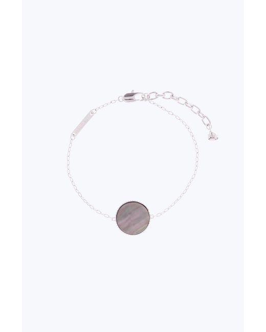 Marc Jacobs - Metallic Pearlescent Logo Chain Bracelet - Lyst