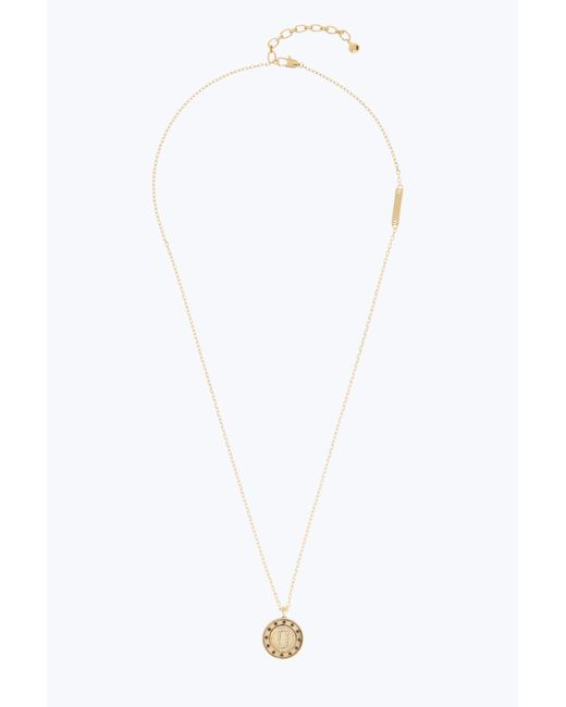 Marc Jacobs - Metallic Double Sided Pendant - Lyst