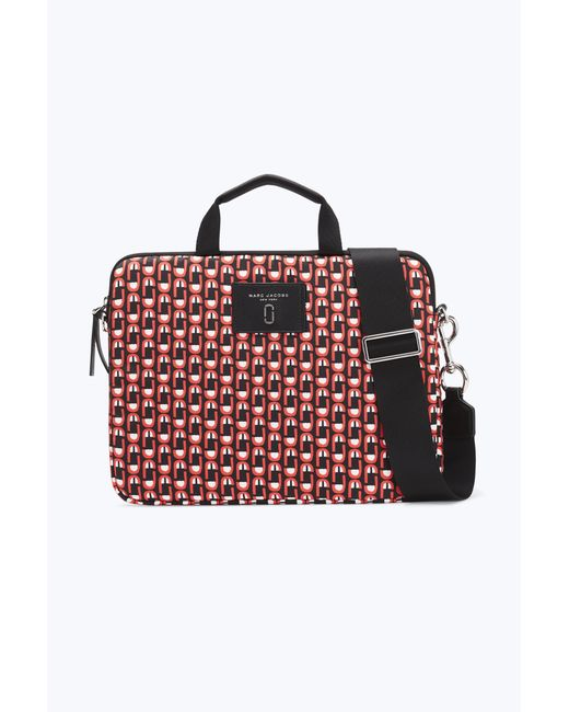 "Marc Jacobs | Red Logo Scream 13"" Commuter Laptop Case 