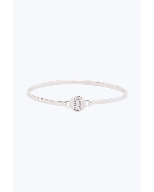 Marc Jacobs - Metallic Double J Pave Hinge Cuff Bracelet - Lyst