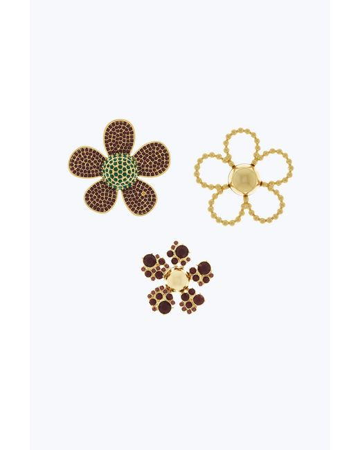 Marc Jacobs - Metallic Daisy Brooch Set Of 3 - Lyst