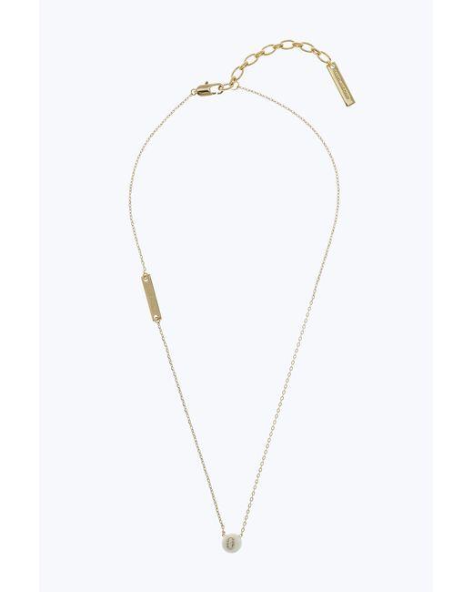 Marc Jacobs - Metallic Icon Enamel Ball Necklace - Lyst
