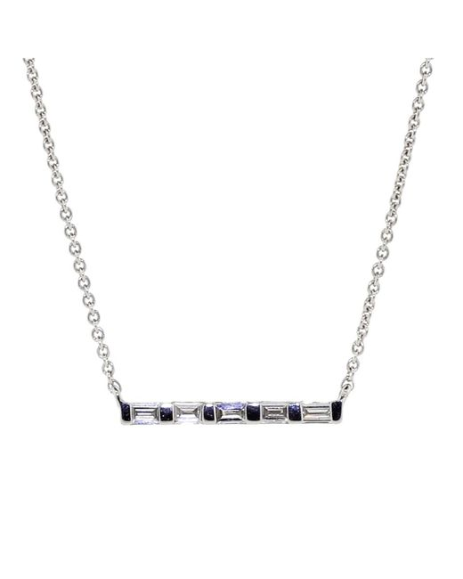 Dana Rebecca | Metallic Sadie Pearl Diamond Baguette Necklace | Lyst