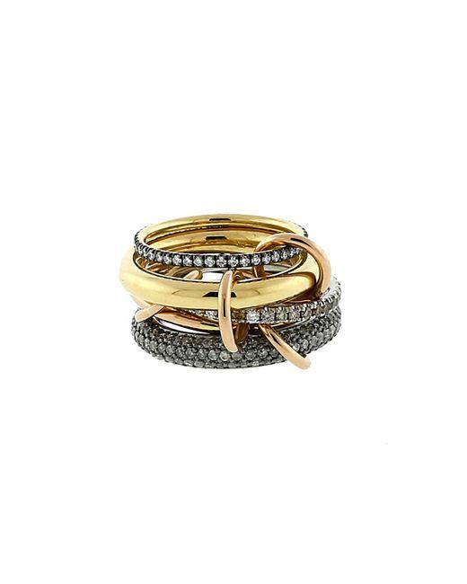 Spinelli Kilcollin | Metallic Plexus Five Link Diamond Pave Rings | Lyst