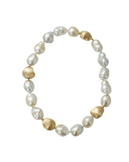Yvel - White Baroque Pearl Necklace - Lyst