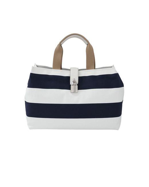 Dolce & Gabbana - Blue Canvas Striped Shopper - Lyst