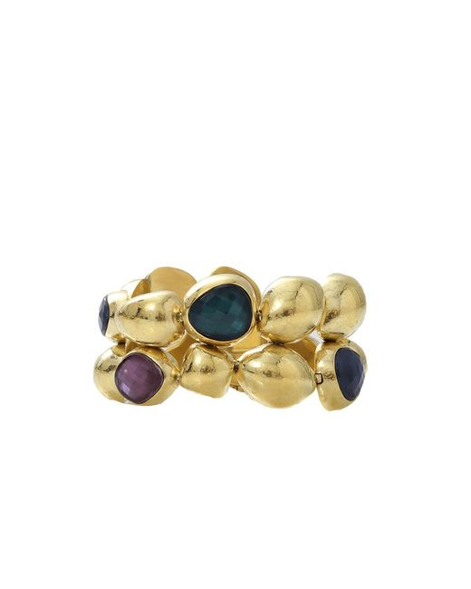 Vaubel - Metallic Pebble Stone Bracelet - Lyst