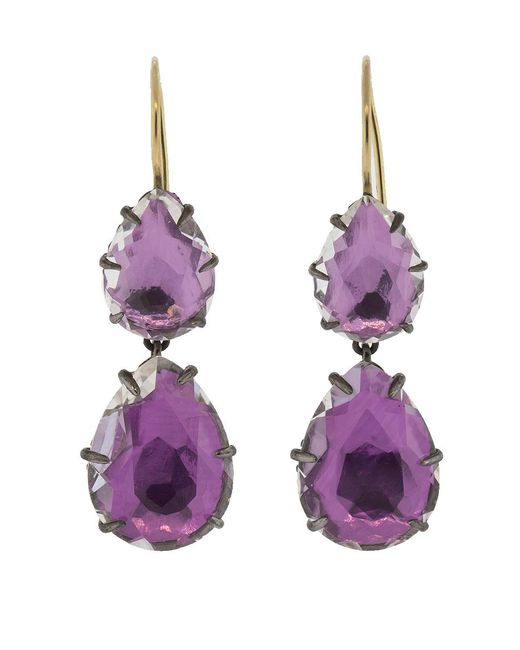 Larkspur & Hawk - Metallic Caterina Large Double Drop Earrings - Lyst
