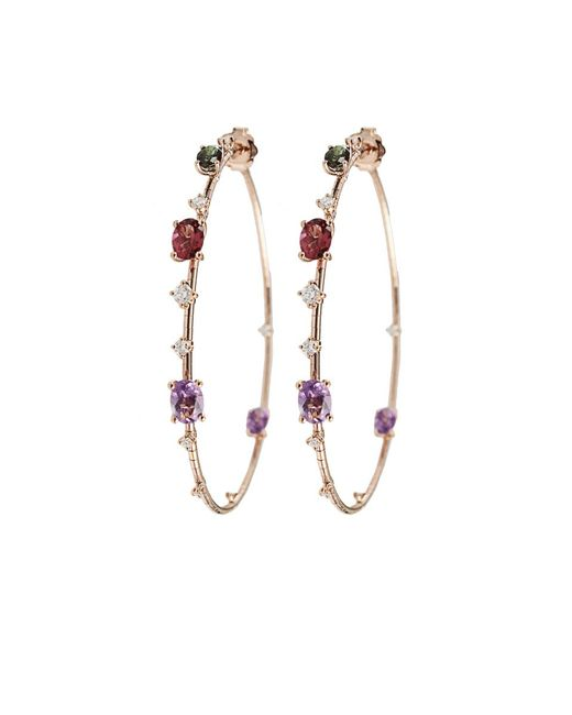 Mattia Cielo | Pink Rugiada Rainbow Hoop Earrings | Lyst