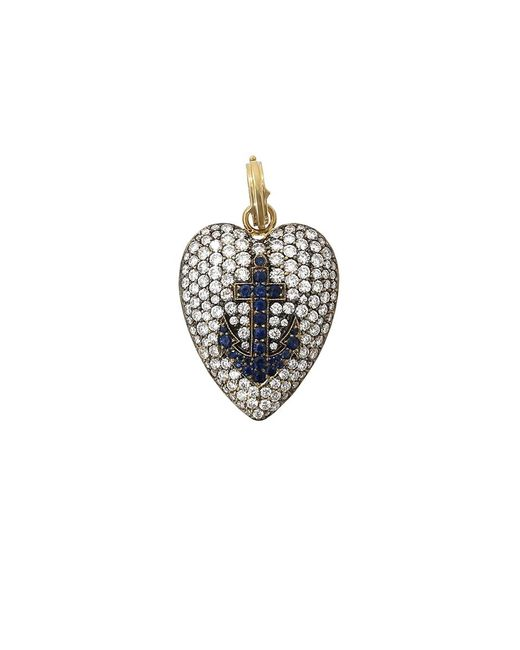 Sylva & Cie   Metallic Heart Pendant   Lyst