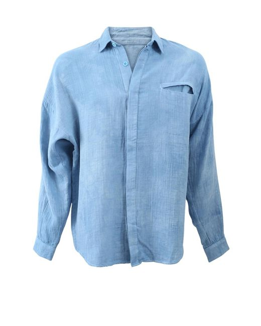 The Elder Statesman | Blue Guaze Pocket Shirt | Lyst