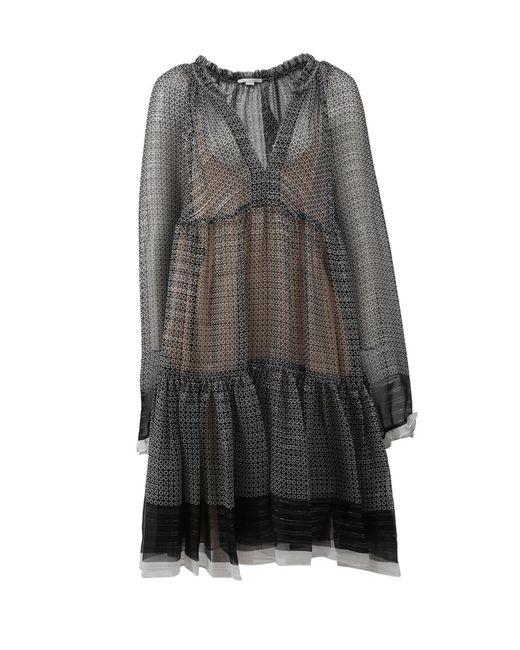 Stella McCartney | Black Lurex Peasant Dress | Lyst