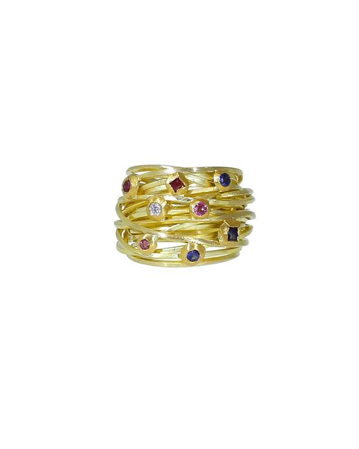 Boaz Kashi | Yellow Sapphire And Tourmaline Wire Wrap Ring | Lyst