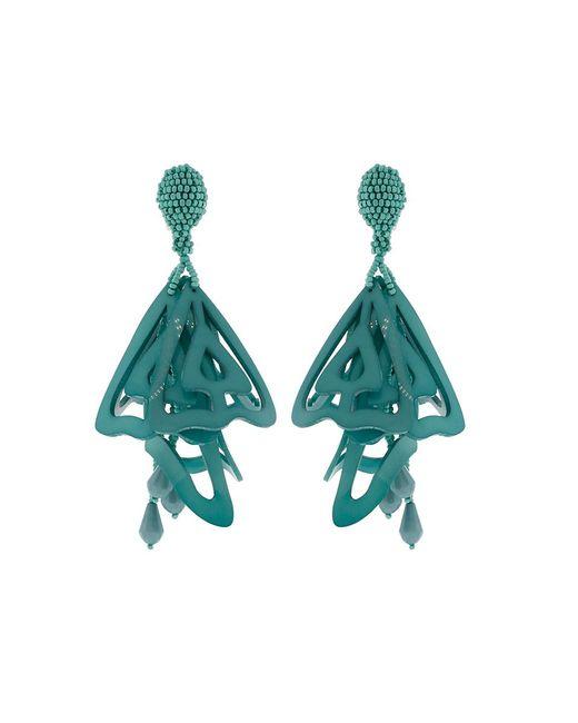 Oscar de la Renta | Green Lace Impatient Earrings | Lyst