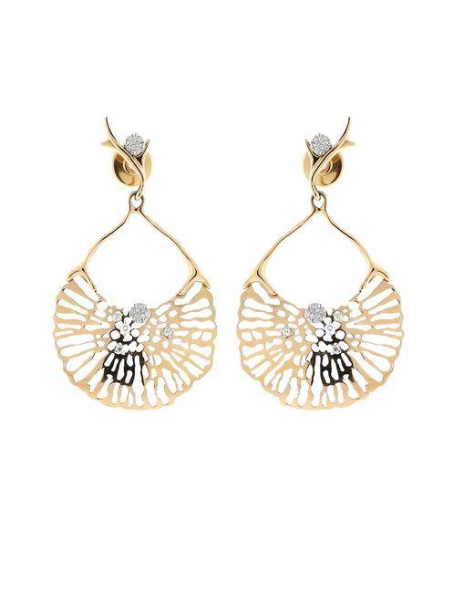 Federica Rettore | Metallic Gorgonia Diamond Fan Earring | Lyst
