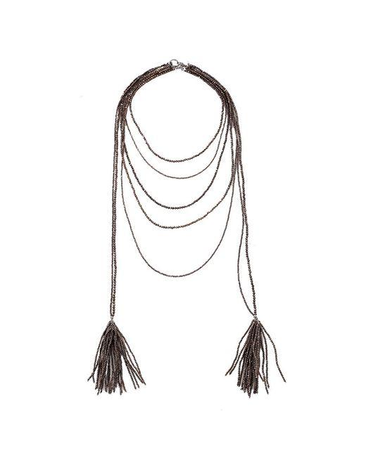 Brunello Cucinelli   Multicolor Ematite Multi Strand Necklace   Lyst