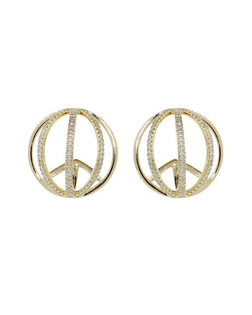 Dana Rebecca | Metallic Isla Rio Diamond Pave Earrings | Lyst