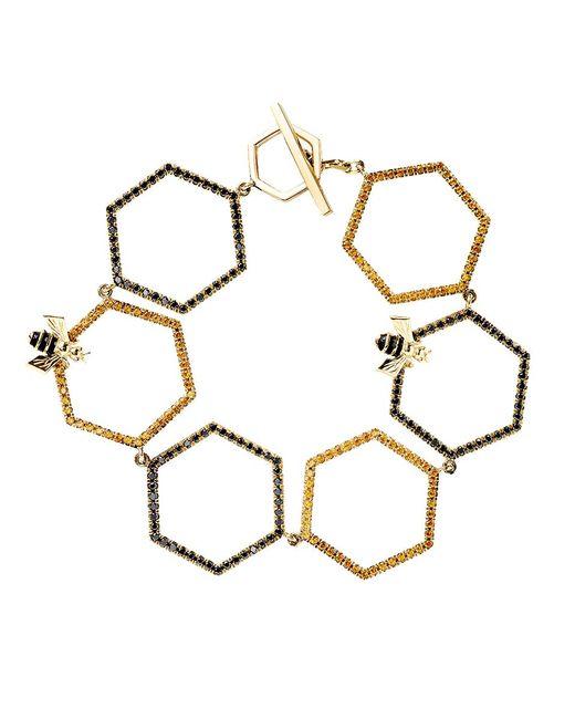 Alison Lou   Metallic Diamond Sapphire Gold Bracelet   Lyst