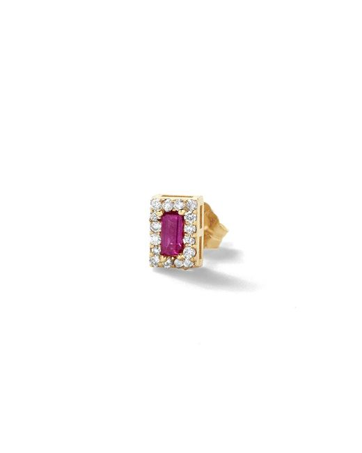 Alison Lou - Pink Ruby Single Stud Earring - Lyst