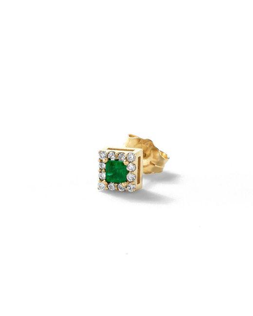 Alison Lou | Multicolor Emerald Single Stud Earring | Lyst