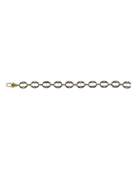Sylva & Cie - Metallic Grey Diamond Link Bracelet - Lyst