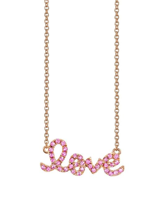 Sydney Evan | Metallic Love Necklace | Lyst