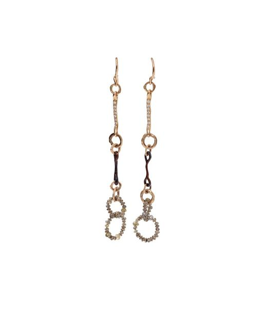Federica Rettore | Metallic Nodi D'amore Earrings | Lyst