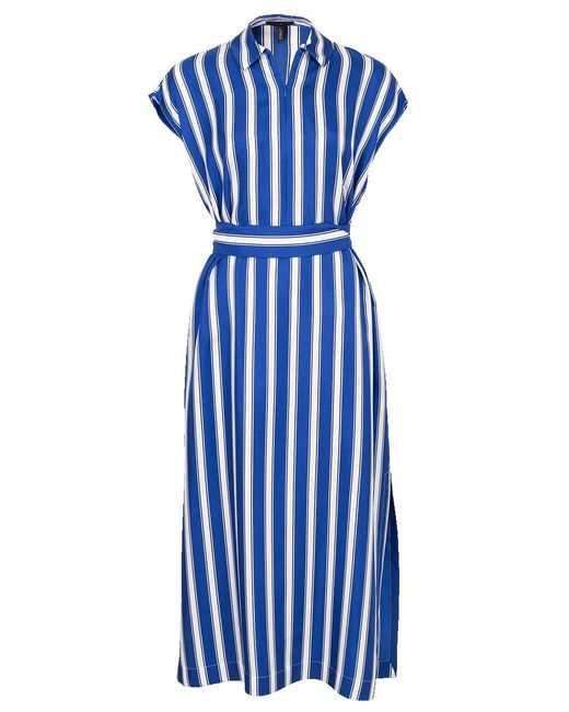 ESCADA - Blue Dras Striped Shirt Dress - Lyst