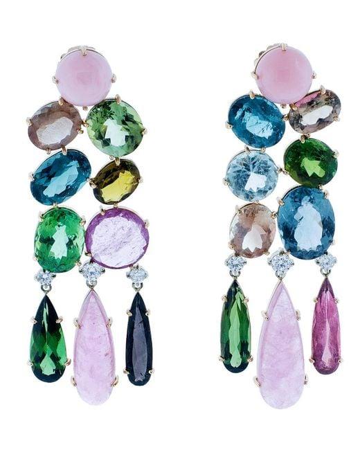 Irene Neuwirth - Multicolor One Of A Kind Chandelier Earrings - Lyst