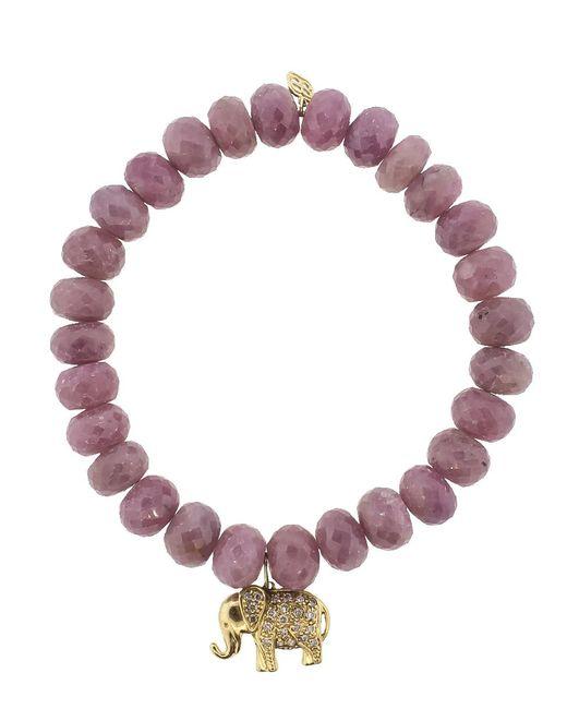 Sydney Evan - Purple Elephant Charm Bracelet - Lyst