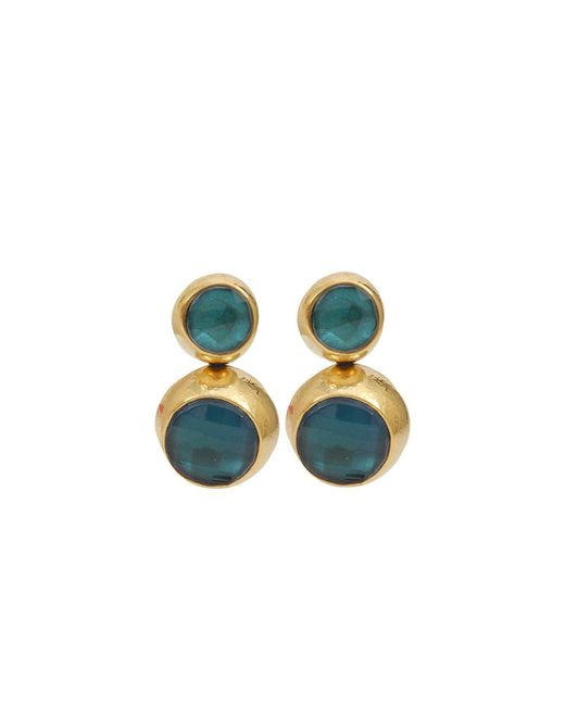 Vaubel | Blue Two Stone Drop Earrings | Lyst