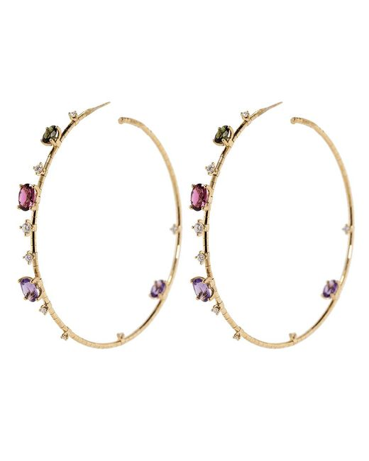 Mattia Cielo - Pink Rugiada Rainbow Hoop Earrings - Lyst