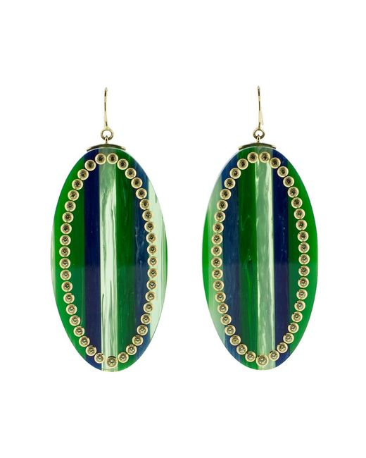Mark Davis - Green And Blue Bakelite Earrings - Lyst
