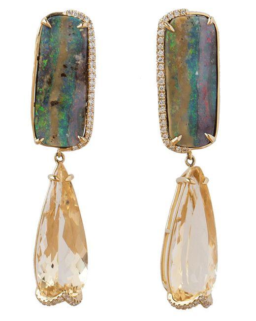Dana Rebecca - Multicolor Courtney Lauren Opal Earrings - Lyst