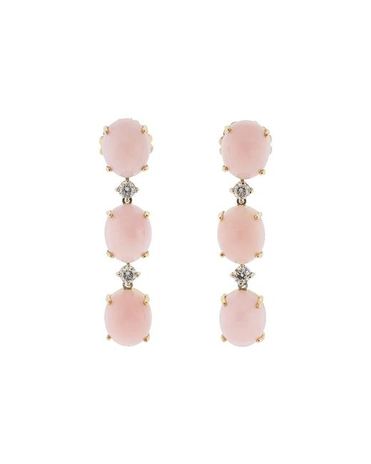 Irene Neuwirth - Pink Opal And Diamond Earrings - Lyst