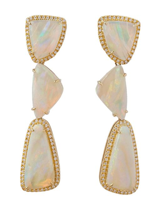 Dana Rebecca - Multicolor Courtney Lauren Opal And Diamond Earrings - Lyst